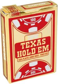 @Copag Texas Hold'em Speelkaarten Jumbo Index Rood
