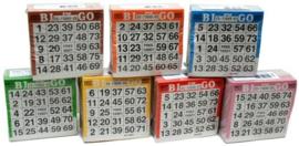 Bingokaarten pak 3500 stuks in 7 kleuren