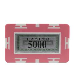 Plak / Plaque 30 gram Roze Waarde 5000 Per 5