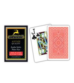 @Modiano Speelkaarten Platinum Poker Rood 100% Plastic Jumbo Index