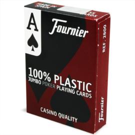 @Fournier 2818 Speelkaarten Jumbo Index 100% Plastic in doosje
