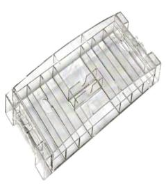 Chiptray Acryl voor 300 chips & 2 decks