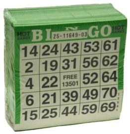 Bingokaarten pak 500 stuks Groen