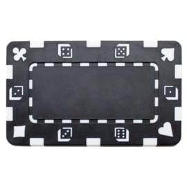 Plak / Plaque 30 gram Dice & Cards Symbool Zwart Per 5