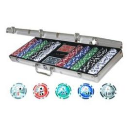 Poker koffer Alu 500 laser chips 11 gram