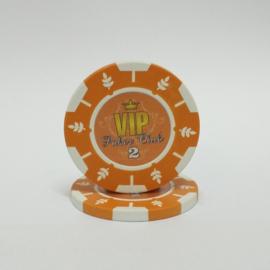 VIP Pokerchip 13.5 gram Oranje Waarde 2 Per 25