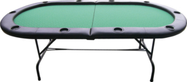 @Pokertafel Groen 180cm opklap & opvouwbaar
