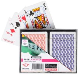 Speelkaarten-Set Dubbel in cassette geplastificeerd Per 6 Stuks