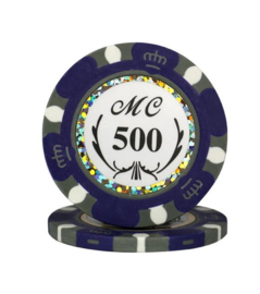 Monte Carlo Pokerchip 13.5 gram Paars Waarde 500 Per 25