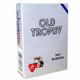 @Modiano Speelkaarten Old Trophy Blauw 100% Plastic !!!!!!!!!!