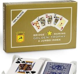 @Modiano Speelkaarten Golden Trophy Jumbo Index Dubbel Pak