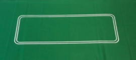 Pokerkleed groen vilt 93x182cm.lyn ovaal