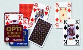 Speelkaarten OPTI Bridge Grote Index per 12