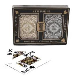 @Pokerkaarten KEM 2-pack 100% Black/Gold