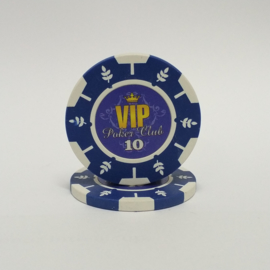 VIP Pokerchip 13.5 gram Donker Blauw Waarde 10 Per 25