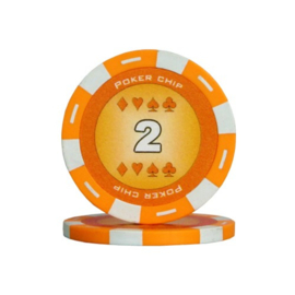 Poker Pokerchip 11.5 gram Oranje Waarde 2 Per 25