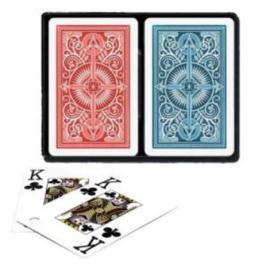 @Pokerkaarten KEM 2-pack 100% Blauw/Rood