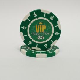 VIP Pokerchip 13.5 gram Groen Waarde 25 Per 25