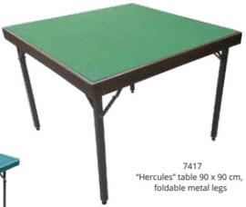 @Hercules Bridge kaart tafel 90x90cm opklapbaar Groen