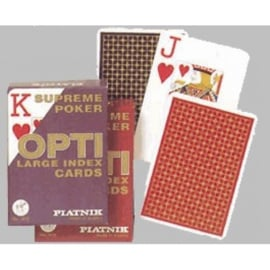 Poker Speelkaarten OPTI grote index Piatnik. 12 stuks