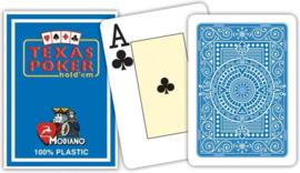 @Modiano Speelkaarten Texas Poker Licht Blauw 100% Plastic Jumbo Index