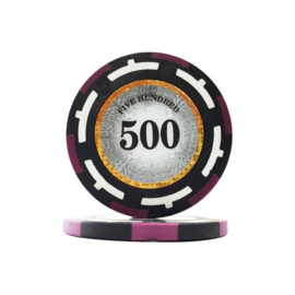 Clear Vision Pokerchip 13.5 gram Paars Waarde 500 Per 25