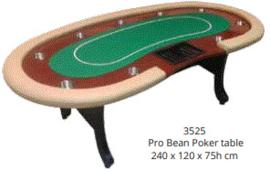 @Pokertafel Beige/Groen 240cm