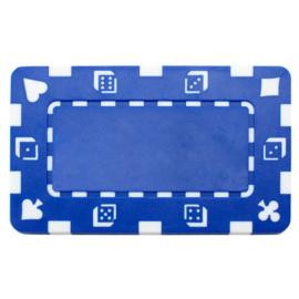 Plak / Plaque 30 gram Dice & Cards Symbool Blauw Per 5