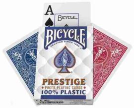 @Pokerkaarten Prestige 100% Plastic Bicycle - Per 12 Stuks