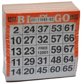 Bingokaarten pak 500 stuks Oranje