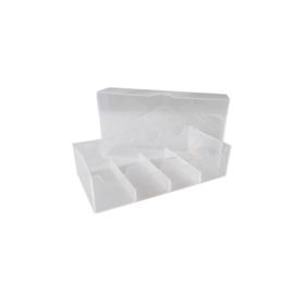 Chiptray transparant voor 100 chips met deksel (25 x 4)