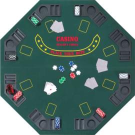 @Pokertabletop 8 hoekig opvouwbaar 125x125x2.5cm