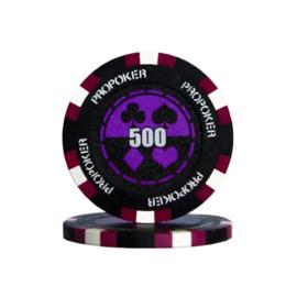 Pro Poker Pokerchip 13.5 gram Paars Waarde 500 Per 25