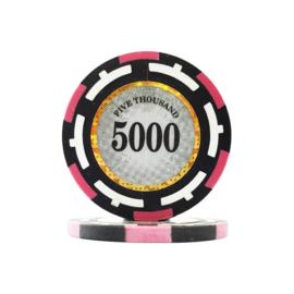 Clear Vision Pokerchip 13.5 gram Geel Waarde 1000 Per 25