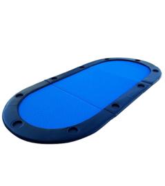 @Poker table top Opbouwbaar voor 8 spelers, Blauw