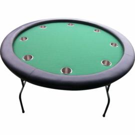 @Pokertafel Rond Groen 120cm opklapbaar