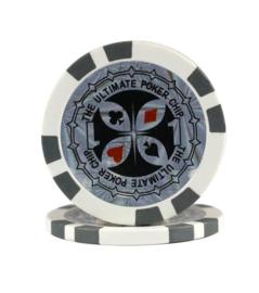 Ultimate Pokerchip 13.5 gram Grijs Waarde 1 Per 25