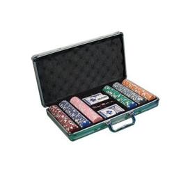 @Pokerset 300 Chips Dice 11.5 gram in Alu koffer