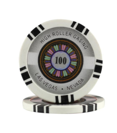 High Roller Pokerchip 11,5 gram Zwart Waarde 100 per 25