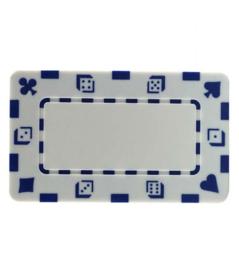 Plak / Plaque 30 gram Dice & Cards Symbool Wit Per 5