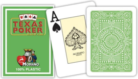Modiano Speelkaarten Texas Poker Licht Groen 100% Plastic Jumbo Index