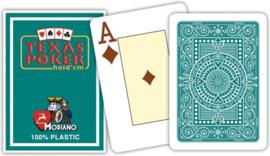 @odiano SpeelkaartenvTexas Poker Groen 100% Plastic Jumbo Index