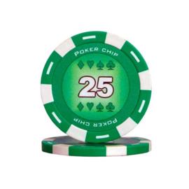 Poker Pokerchip 11.5 gram Groen Waarde 25 Per 25