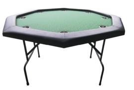 @Pokertafel Acht Hoekig Groen 120cm opklapbaar