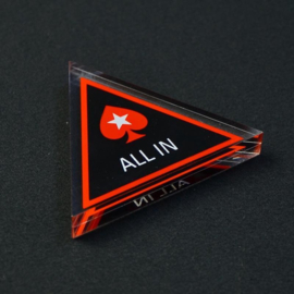 All-in Poker Button driehoek Acryl