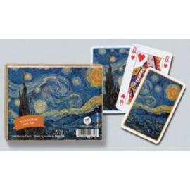 @Speelkaarten-Set Van Gogh Starry Night