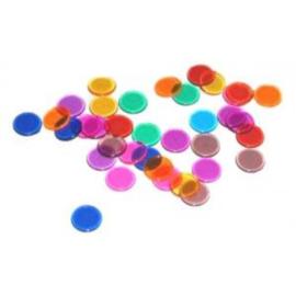 @Bingofiches transparant gekleurd 14mm per 300 in zak
