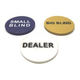 Poker dealer button set 3x kunststof 49x5mm.
