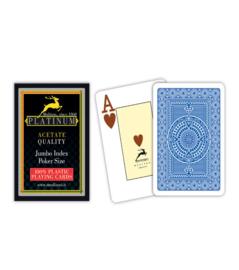@Modiano Speelkaarten Platinum Poker Blauw 100% Plastic Jumbo Index