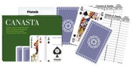 Canasta kaarten set Piatnik met scoreblok